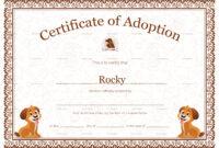 Kitten Adoption Certificate regarding Blank Adoption Certificate Template
