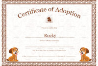 Kitten Adoption Certificate throughout Adoption Certificate Template