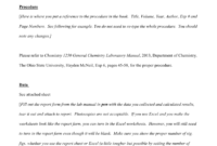 Lab Report Example – Osu Chemistry pertaining to Chemistry Lab Report Template