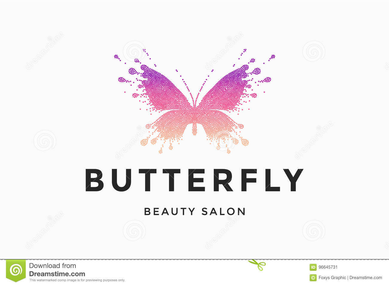 Label Of Beauty Salon Butterfly Stock Vector - Illustration Intended For Butterfly Labels Templates