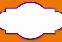 Label Templates.purple Butterfly Border Clipart Purple throughout Butterfly Labels Templates