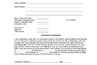 Letter Of Substantial Completion – Free Printable Documents inside Certificate Of Substantial Completion Template
