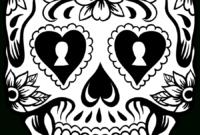 Library Of Halloween Sugar Skull Svg Transparent Stock Png for Blank Sugar Skull Template