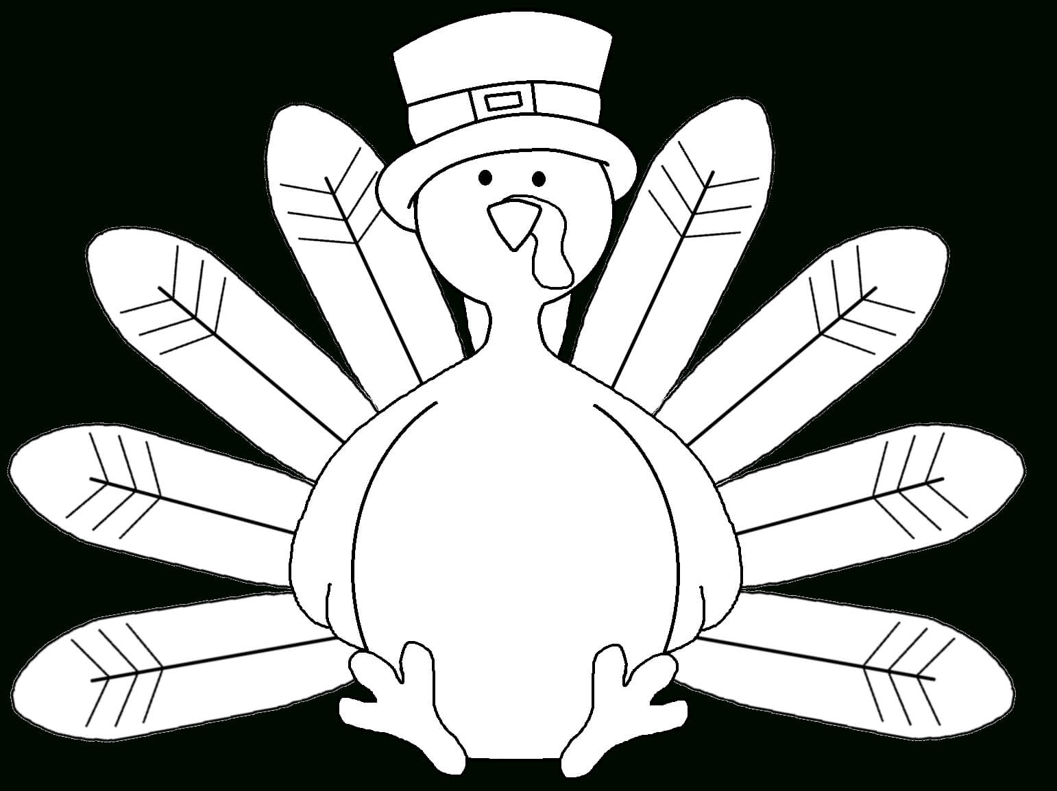 Library Of Thanksgiving Turkey Banner Freeuse Library Black With Regard To Blank Turkey Template