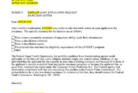Loan Application Rejection Letter (15+ Sample Letters in Business Proposal For Bank Loan Template