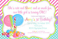Lollipop Invitation Templates for Blank Candyland Template