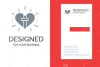 Love, Heart, Celebration, Christian, Easter Grey Logo Design within Christian Business Cards Templates Free