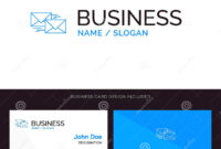 Mail, Reply, Forward, Business, Correspondence, Letter Blue inside Business Reply Mail Template