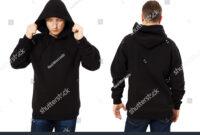 Man Template Mens Black Hoodie Sweatshirt Stock Photo (Edit regarding Blank Black Hoodie Template