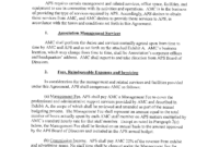 Management Administrative Service Agreement | Templates At within Business Management Contract Template