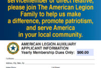 Marketing & Promotional Materials – American Legion Auxiliary pertaining to American Legion Letterhead Template
