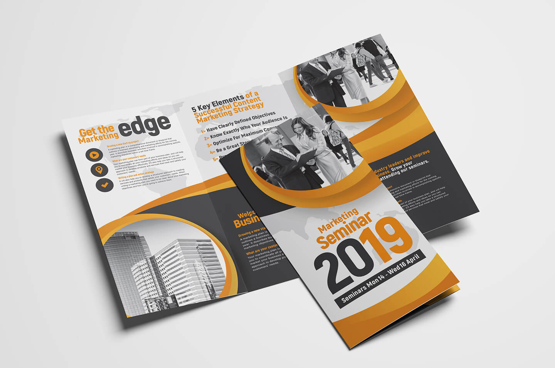 Marketing Seminar Tri Fold Brochure Template – Psd, Ai & Vector For 3 Fold Brochure Template Psd