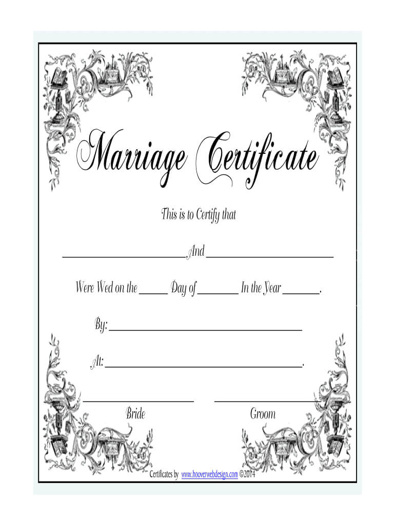 Marriage Certificate - Fill Online, Printable, Fillable Pertaining To Blank Marriage Certificate Template