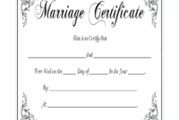 Marriage Certificate – Fill Online, Printable, Fillable with Certificate Of Marriage Template