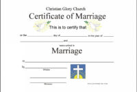 Marriage Certificate Template – Certificate Templates intended for Blank Marriage Certificate Template