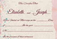 Marriage Certificate Template Church Templates Wedding for Christian Certificate Template