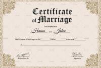 Marriage Certificate Template Church Templates Wedding regarding Certificate Of Marriage Template