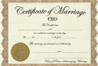 Marriage-License-Printable-Achievement-Certificate-Template in Certificate Of License Template