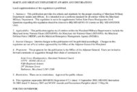Maryland Military Department Regulation 672-1 (Awards And regarding Army Good Conduct Medal Certificate Template