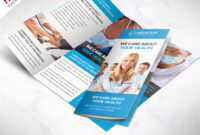 Medical Care And Hospital Trifold Brochure Template Free Psd with 3 Fold Brochure Template Free Download