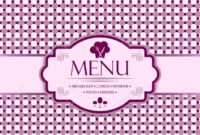 Menu Template For Restaurants, Bars And Beverages – Breakfast,.. with regard to Breakfast Lunch Dinner Menu Template