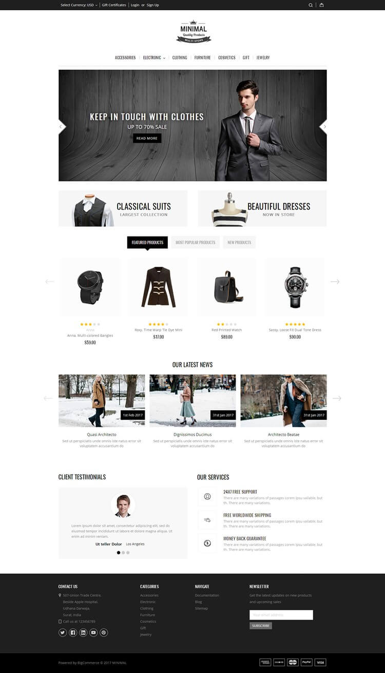 Minimal Bigcommerce Theme | Templatemela In Big Commerce Templates