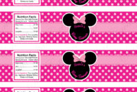 Minnie Mouse Water Bottle Labels For Baby Shower • Baby with regard to Baby Shower Bottle Labels Template