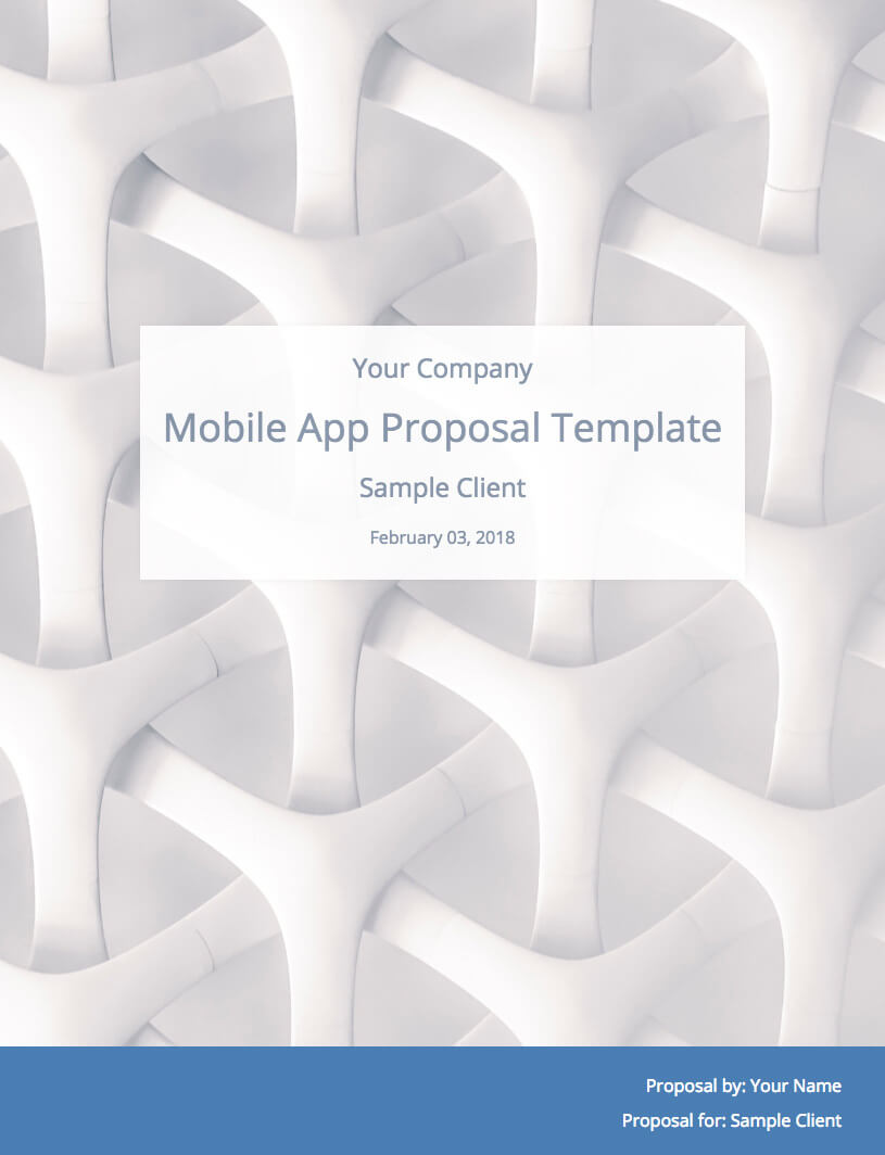 Mobile App Development Proposal Template (With Sample With App Proposal Template
