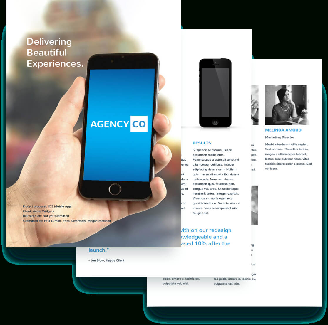 Mobile App Proposal Template – Free Sample | Proposify Regarding App Proposal Template