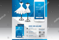 Mobile Apps Flyer Template Boutique Shop Stock Vector with regard to Boutique Flyer Template Free
