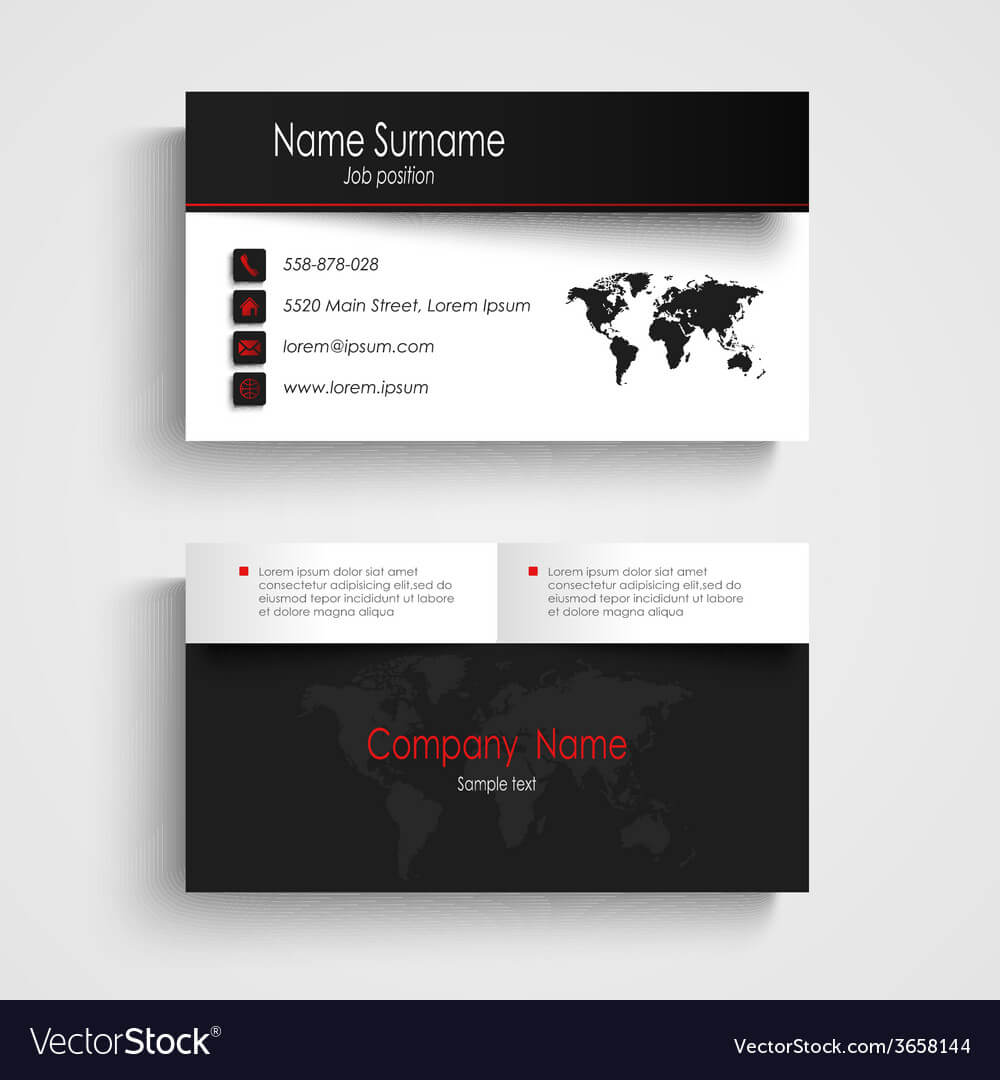Modern Black White Business Card Template Within Black And White Business Cards Templates Free