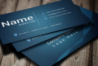 Modern Business Card Template inside Buisness Card Templates