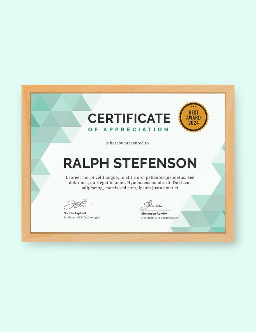 Modern Certificate Of Participation Editable Template Pdf With Certificate Of Participation Template Pdf