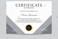 Modern Certificate Template And Background Stock Photo intended for Borderless Certificate Templates