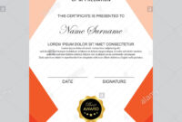 Modern Certificate Template And Background Stock Photo pertaining to Borderless Certificate Templates