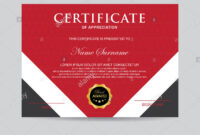 Modern Certificate Template And Background Stock Photo within Borderless Certificate Templates
