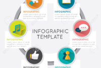 Modern Infographic Template Circle Style Options Five Banner.. for Adobe Illustrator Infographic Templates