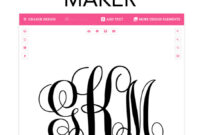 Monogram Maker – Make Your Own Monograms Using Our Free within 3 Letter Monogram Template