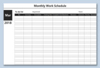 Monthly Work Planner Spreadsheet Hours Template Excel intended for Blank Monthly Work Schedule Template