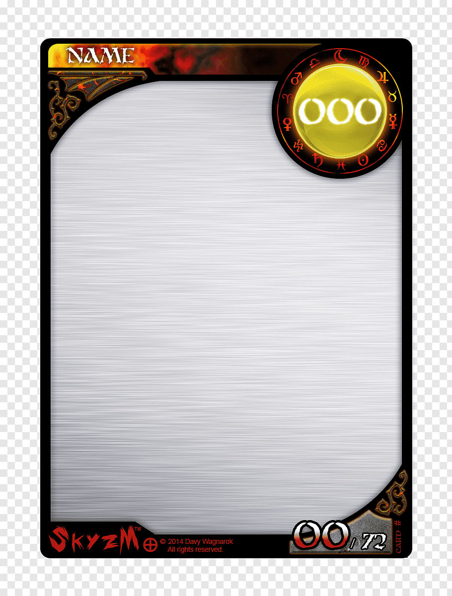 Multicolored Game Card Template, Template Collectable In Blank Magic Card Template