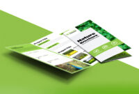 Nature Tri Fold Brochure Template Free Psd | Psdfreebies within Brochure 3 Fold Template Psd