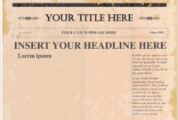 Newspaper Template Png – Tunu.redmini.co pertaining to Blank Old Newspaper Template