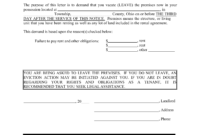Ohio 3-Day Notice To Quit Form | Non-Payment | Eforms – Free regarding 3 Day Eviction Notice Template