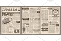Old Newspaper Template Style Free Photoshop WordPress regarding Blank Newspaper Template For Word