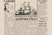 Old Time Newspaper Template Google Docs Word Article pertaining to Blank Old Newspaper Template