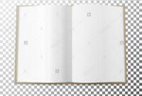 Open Magazine Spread Blank Vector. Simple Mock Up Template inside Blank Magazine Spread Template