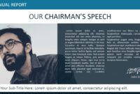 Our Chairman Message Powerpoint Template – Slidemodel with Chairman's Annual Report Template