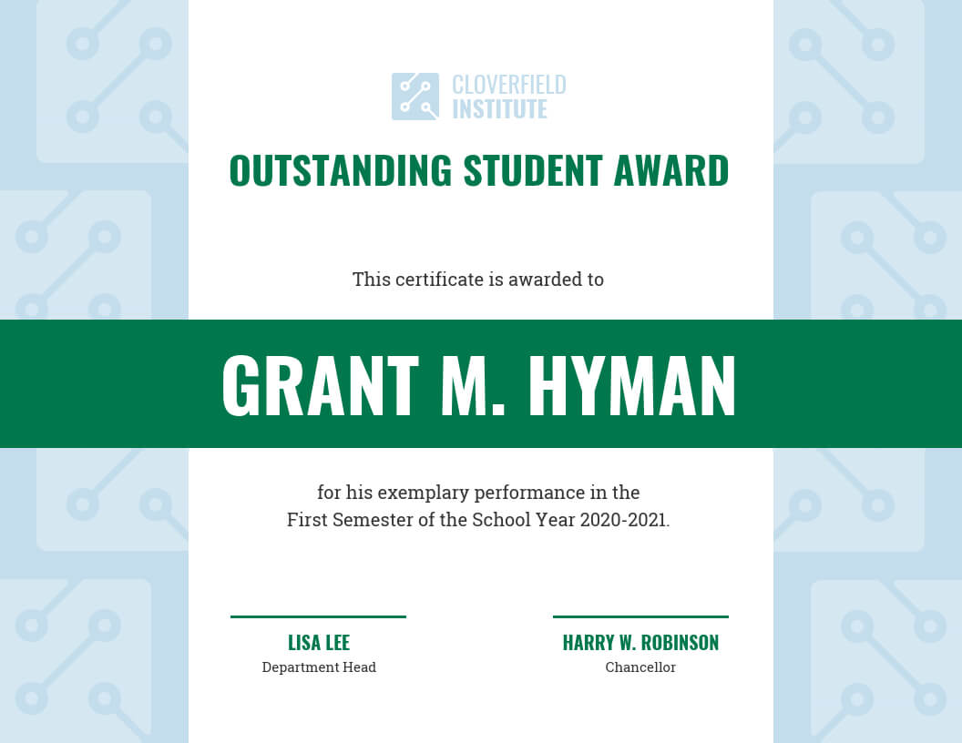 Outstanding Student Certificate Template With Regard To Best Performance Certificate Template