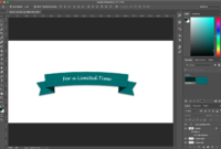 Photoshop Tutorial: How To Create A Ribbon Banner with Adobe Photoshop Banner Templates