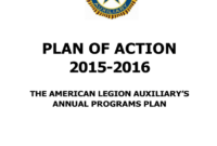Plan Of Action – American Legion Auxiliary within American Legion Letterhead Template